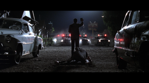 At the Victory Motel. Guy Pearce and James Cromwell, L.A. Confidential.